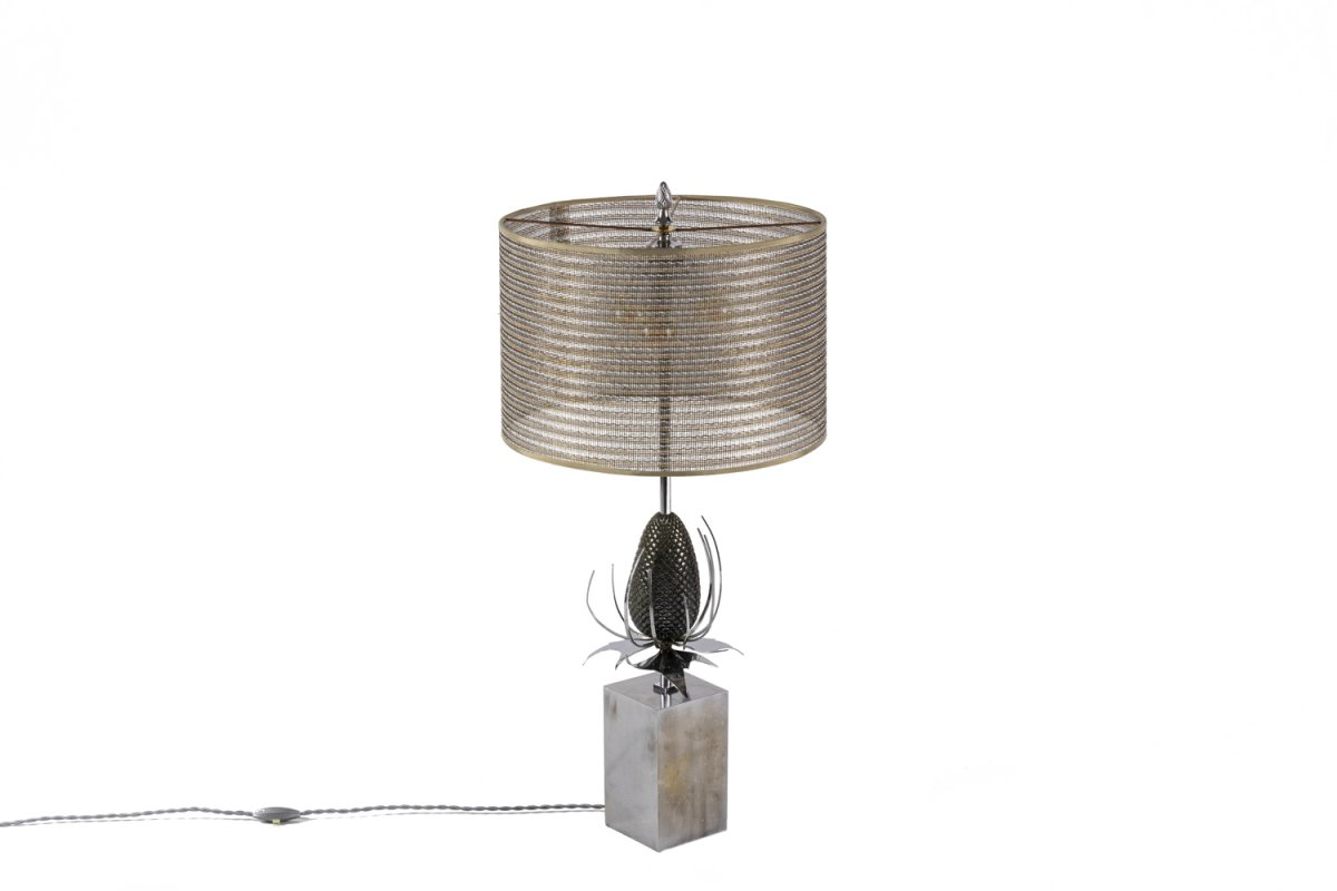 Maison Charles, Thistle Lamp In Bronze And Brass, 1970's - Ls4258831