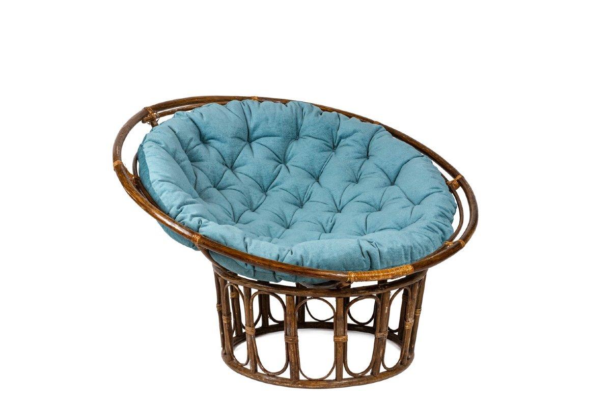 Paire de fauteuils « Papasan » en rotin et tissu matelassé, années 1970, LS43301351-photo-4
