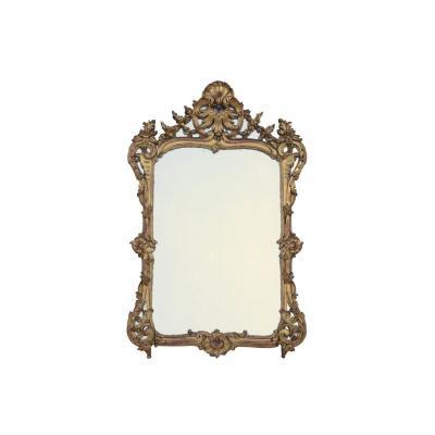 Miroir à parcloses de style Louis XV en bois doré, XIXe siècle - LS2582