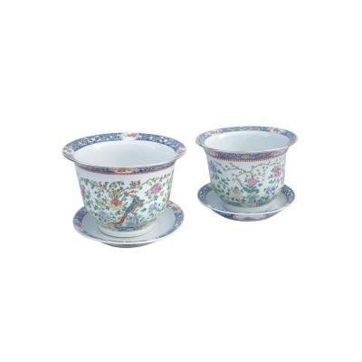 Paire De Cache Pots En Porcelaine De Canton 1900 - LS2704801