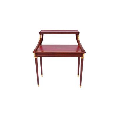 Table à Thé De Style Louis XVI En Acajou, XIXème Siècle