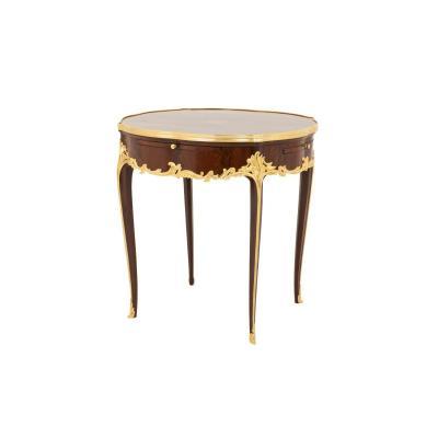 Table Bouillotte De Style Louis XV En Bois De Violette, Fin XIXe Siècle