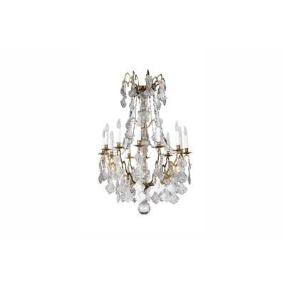 Chandelier In Gilt Bronze And Crystal, Early 19th Century - Ls24471201