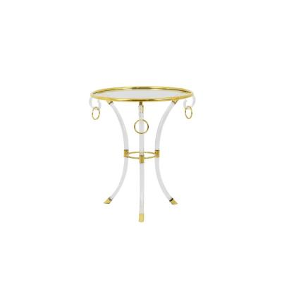 Hollis Jones, Directoire Style Stand In Lucite And Gilt Brass, 1970's - Ls4004