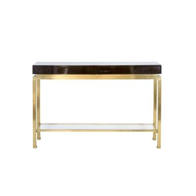 Guy Lefèvre For Maison Jansen, Lacquer And Brass Console, 1970's - Ls41731001