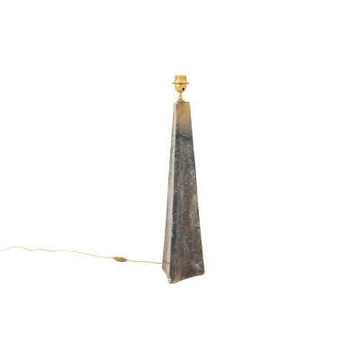 Lampe En Onyx De Forme Triangulaire, XXe Siècle - LS3247
