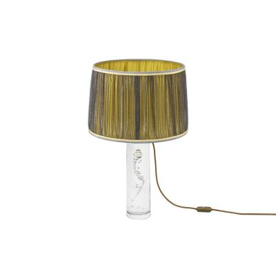 Daum France, Glass Lamp With Bubbles, Circa 1975 - Ls3386