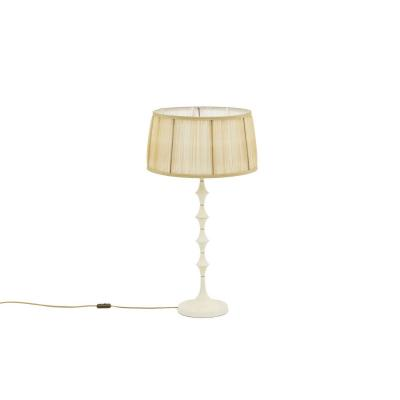 Lamp In White Resin And Gilt Brass, 1970's - Ls3709