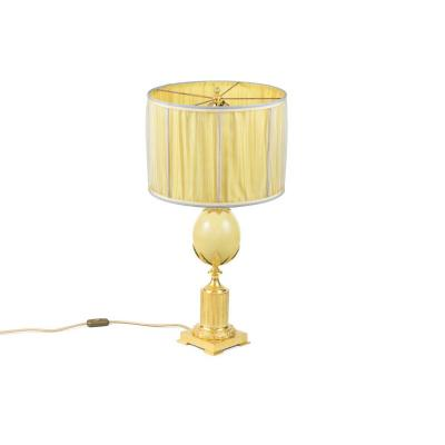Maison Charles, Ostrich Egg Lamp, 1970's -ls4092