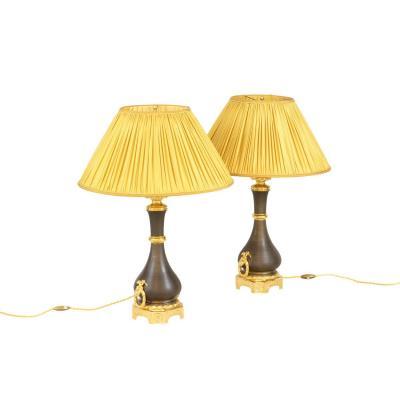 Maison Gagneau, Pair Of Louis XVI Style Lamps, Circa 1880 - Ls4174