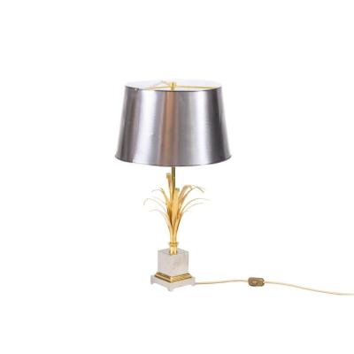 Maison Charles, Reeds Lamp In Gilt And Silvered Bronze, 1970's - Ls4183