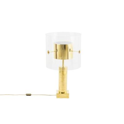 Lamp In Gilt Brass And Lucite, 1960's - Ls3983