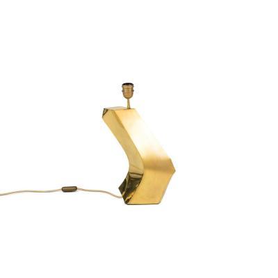 Lampe Boomerang En Laiton Doré, Années 1970 - Ls4177401