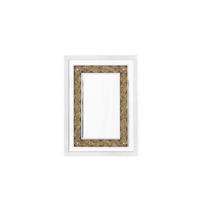 Miroir En Métal Chromé Et Graines De Tournesol, Années 1970 - Ls4188801