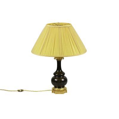 Lampe Style Louis XVI En Porcelaine Et Bronze Doré, Circa 1880 - Op466441