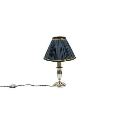 Small Directoire Style Candlestick In Silvered Metal, Circa 1900 - Op472