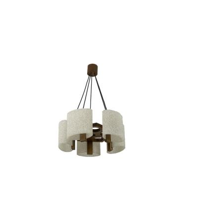 Chandelier In Granite Resin And Wood, 1950's - Ls4207