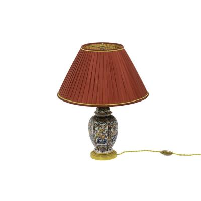 Small Lamp In Delft Earthenware And Gilt Bronze, Circa 1880 - Ls2924231