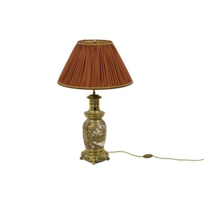 Lamp In Satsuma Earthenware And Gilt Bronze, Circa 1880 - Ls3233361