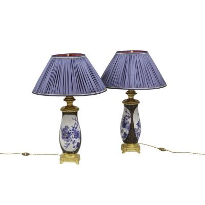 Pair Of Lamps In Japanese Porcelain And Gilt Bronze, Circa 1880 - Ls33241111