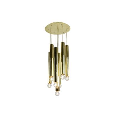 Maison Raak, Chandelier With 7 Lights In Gilt Brass, 1970's- Ls39871601