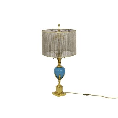 Lamp In Turquoise Opaline And Gilt Bronze, 1970's - Op479721