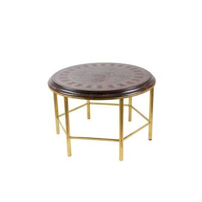 Table Basse En Laque Style Persan Et Bronze Doré, Années 1950 - Ls2221861