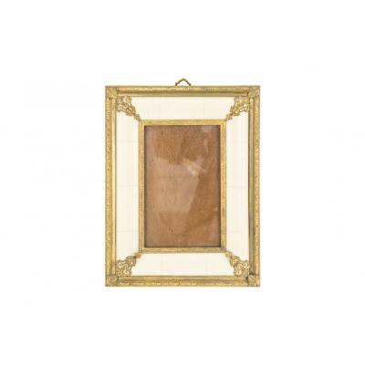 Louis XIV Style Photo Frame In Ivory And Gilt Bronze, Circa 1900 -  Op443201