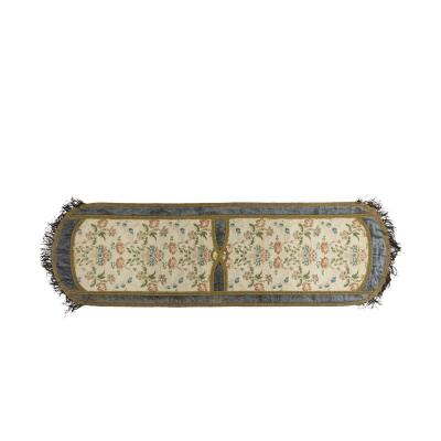 Table Runner In Embroidered Silk, 19th Century - Op297301