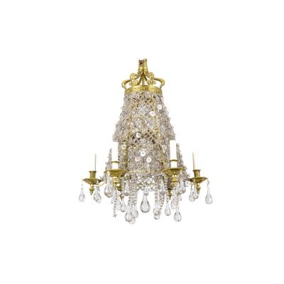 Chandelier In Crystal And Gilt Bronze, Circa 1880 - Ls42001801