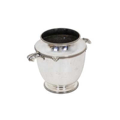 Maison Bouillet Bourdelle, Silver Plated Wine Cooler-champagne Bucket, 20th Century - Op71151