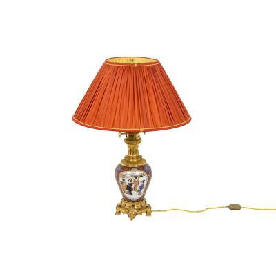 Lamp In Samson Porcelain And Gilt Bronze, Circa 1880 - Ls4238441