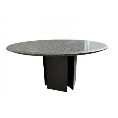 Table In Granite And Grey Lacquered Wood, 1970's