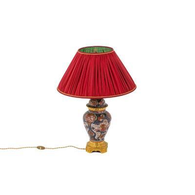 Lamp In Imari Porcelain And Gilt Bronze, Circa 1880 - Ls31811381