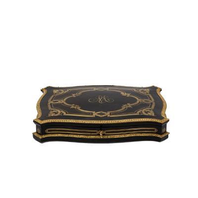 Game Box In Wood And Glit Brass, Napoleon III Period - Ls4369616