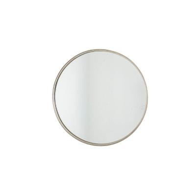 Circular Mirror In Silver Plated Brass, 1970's - Ls4498313c
