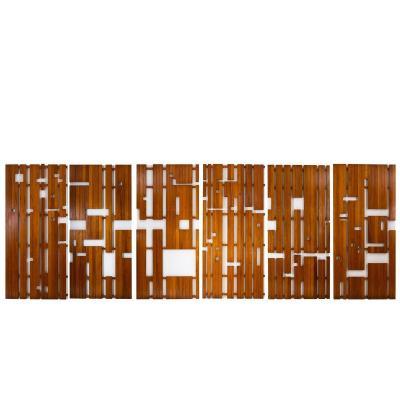 Série De Six Panneaux En Pitchpin Et Laque Blanche, Années 1950 - Ls40622463