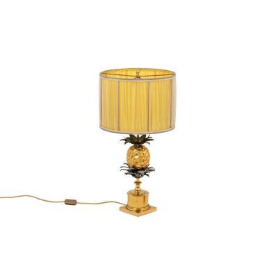 Maison Charles, Lampe Ananas En Bronze, Années 1960 - Ls4523511