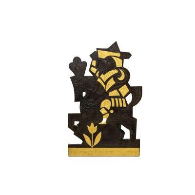 Roger Capron, Panneau Décoratif En Plomb, Années 1960 -  Ls45392031