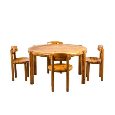 Rainer Daumiller, Dining Table And Set Of Four Pine Chairs, 1960's, Ls45941501