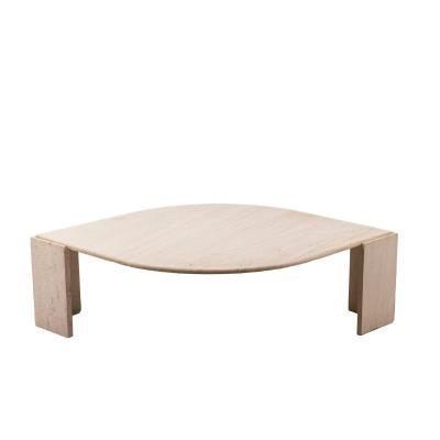 Table Basse En Travertin, Années 1970, Ls4625301