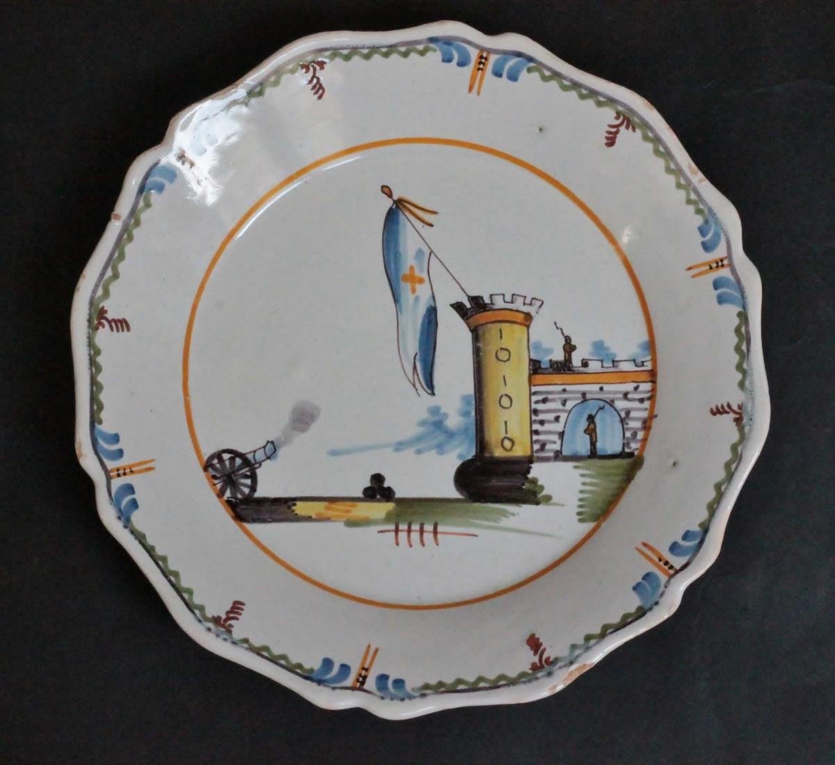 """Nevers Revolutionary Plate """"taken From The Bastille"""""""