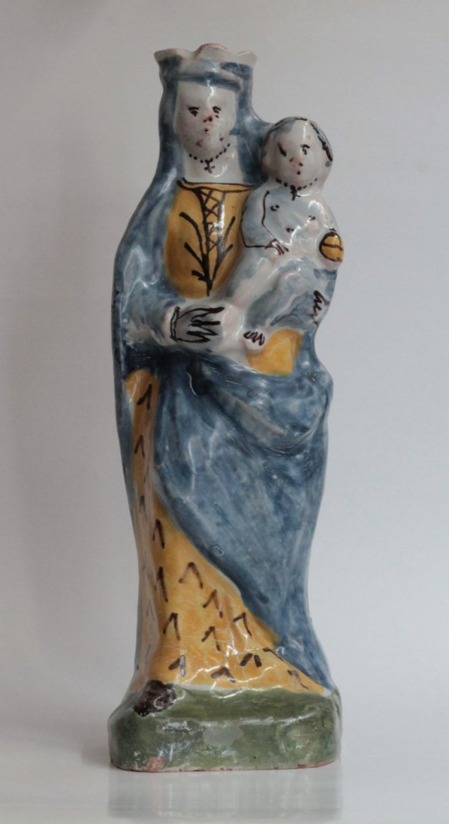 Nevers, Madonna Of Maid In Earthenware.