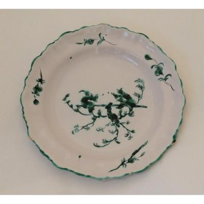 Moustiers, Green Camaïeu Plate.