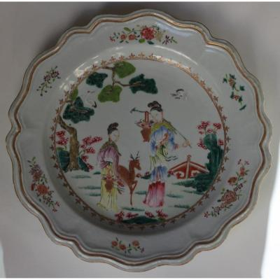 China, Plate With Character Decor.
