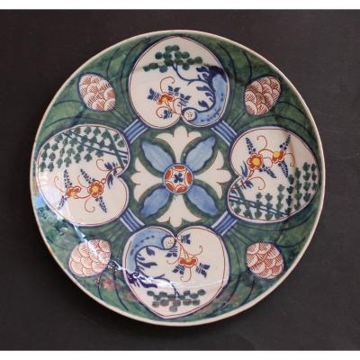 Delft. Decor Plate With 4 Hearts.