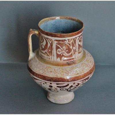 Verseuse En Céramique Siliceuse, Iran, Kashan Fin XIIIe - Début XIVe Siècle