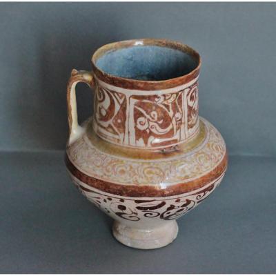 Siliceous Ceramic Jug, Iran, Kashan End XIIIth - Beginning XIVth Century