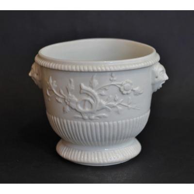 Rafraichissoir à Verre En Porcelaine De Saint-cloud, XVIIIe Siècle