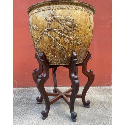 Large South China Cache Pot For Vietnam (19th S)